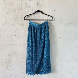NWT Gorgeous Prussian Blue Lace Skirt